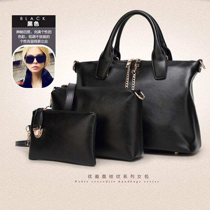 2015 New font b Handbags b font Women Messenger Bags Female Purse Solid Shoulder Bags Office