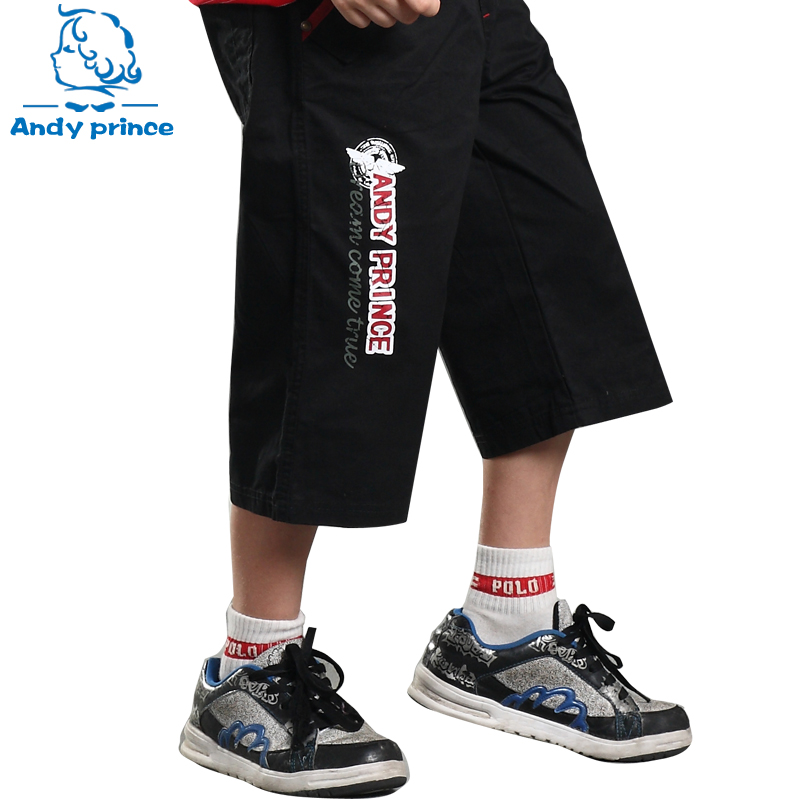 Summer New Arrival 100% children's cotton clothing beach   capris     pants   for Boys child Casual Trousers Sport   pants   for Boy