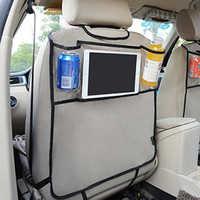 Organizador para asiento trasero de coche, bolsa de almacenamiento para asiento trasero de varios bolsillos, organizador para teléfono, bolsillo para libro, tableta, tejido para bebidas móviles