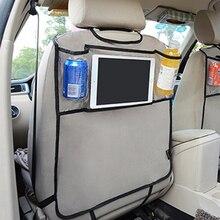 Carro de volta assento organizador do carro multi bolso banco de volta saco de armazenamento organizador bolsa de bolso do telefone para o livro tablet bebidas móveis tecido