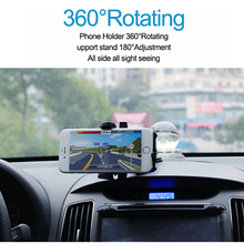 Car Phone Holder ABS+Metal Smart Rotate Adjustable Windshield Panel Stand for GPS PAD Accessories