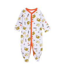 Newborn Baby Rompers Boy Long Sleeve Soft Cotton Cartoon Bear Print Jumpsuits & Rompers 2016 Autumn Children Climbing Clothing