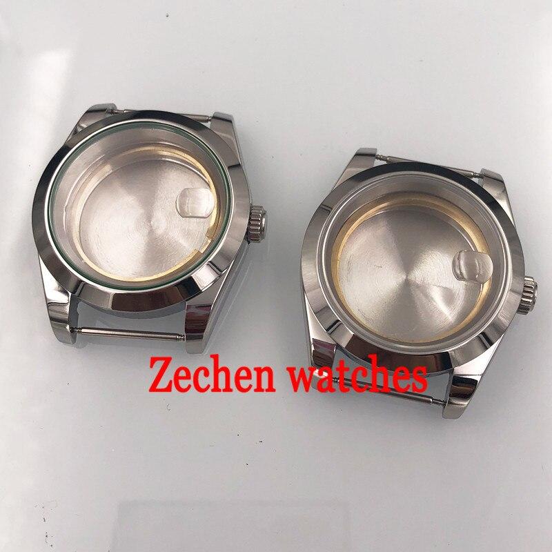 Corgeut 39mm Watch accessories 316L Steel case magnifying glass fit Miyota 8205/8215,ETA 2836,DG2813/3804 fit parnis watch
