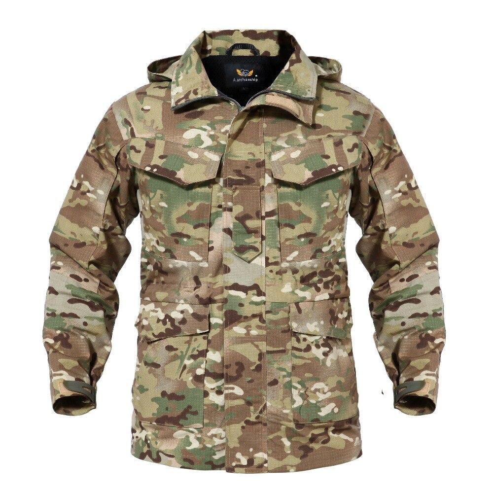 M65 Camouflage UK ONS Mannen Vlucht Piloot Jas Leger Kleren Casual Tactical Hoodie Militaire Veld Windjack Waterdichte Jas