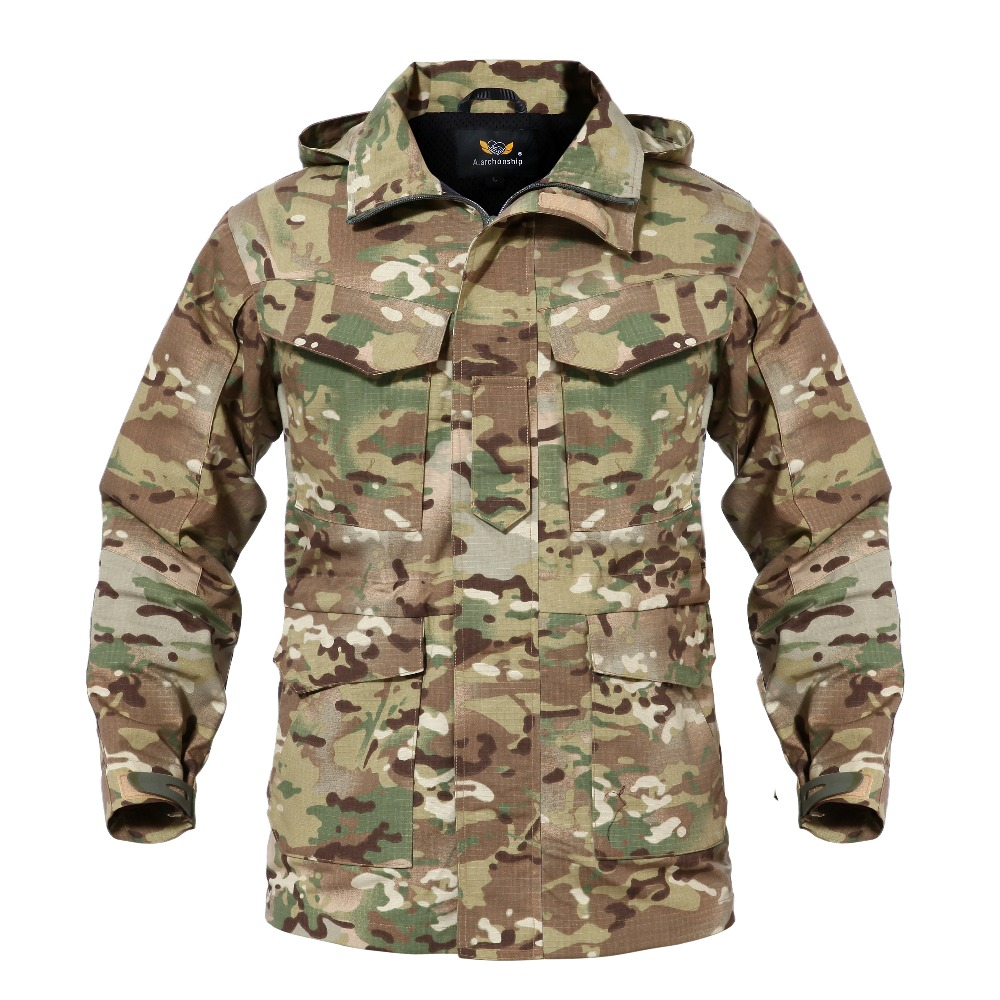 M65 Camouflage UK US Men Flight Pilot Coat Army Clothes Casual Tactical Hoodie Military Field Windbreaker Waterproof Jacket