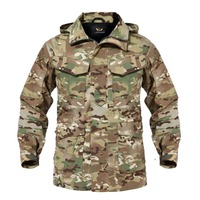 M65 Camouflage UK US Men Flight Pilot Coat Army Clothes Casual Tactical Hoodie Military Field Windbreaker