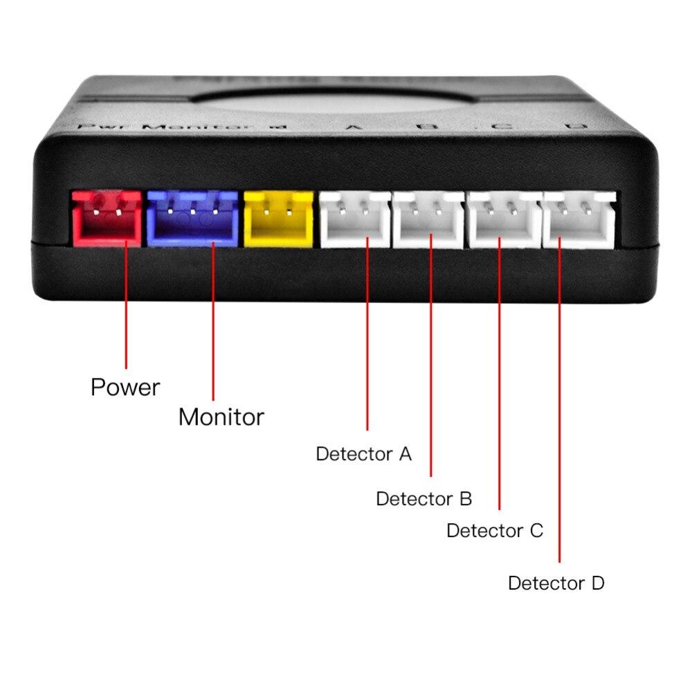Ein Satz Parkplatz Sensor Led-anzeige auto reverse Backup Radar Monitor Detektor System mit 4 parkplatz sensoren Auto Auto Parktronic