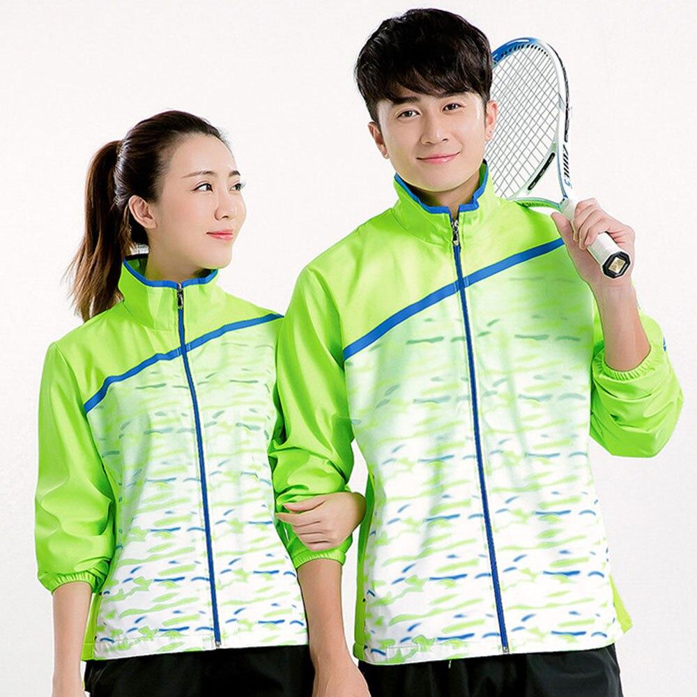 נשים מעיל רוכסן טניס חדש/גברים, בדמינטון, מעיל בדמינטון, טניס חולצת מעיל, מעילי טניס שולחן 5071