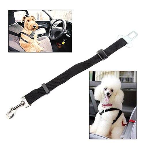 Black Car Vehicle Auto Seat Safety Belt Seatbelt Harness Restraint For Dog Pet