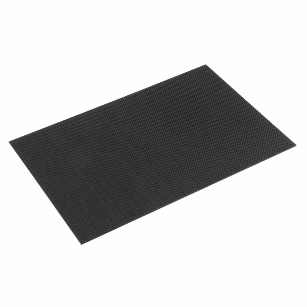 1pc 200 x 300 x 1.5mm 100% Carbon Fiber Plate Black Both Sides Gloss Surface Carbon Fiber Plate Panel Sheet 3K Plain Weave New