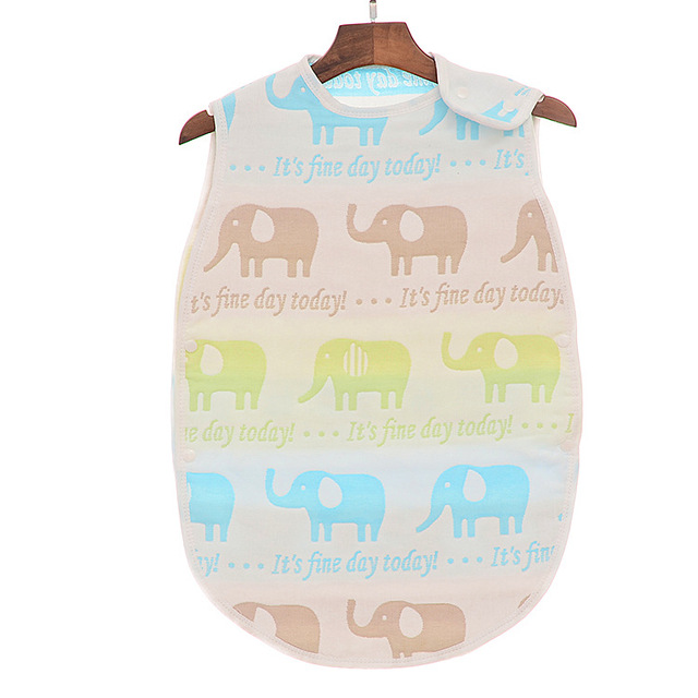 Colorful Sleeping Bag 40*60cm 6 Layers Muslin Cotton 0-24 Months Sleeveless Pajamas Girls Boys Blanket Sleepers Baby Clothing