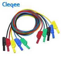 Cleqee P1050 1M 4mm Banana to Banana Plug Soft RV Test Cable Lead for Multimeter 5 Colours