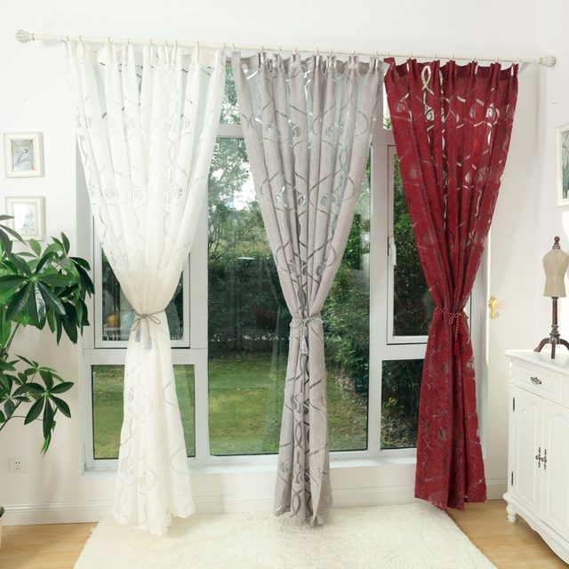 Napearl Rustic Design Custom Made Curtains For Windows Dining Room Finished Curtain D Gray Brown White Modern Home