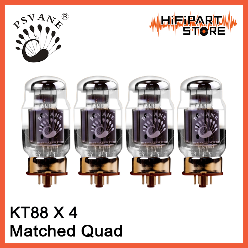 4pcs PSVANE KT88 Tube Matched Quad amplifier accessories Repalce Golden Voice Shuguang EH JJ Mullard Golden