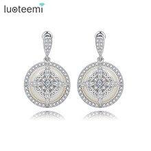 Teemi 2016 New Noble Special Design Sea Shell Pearl Drop Earrings Fashion Delicate Dangle Brincos Jewelry For Women Wedding