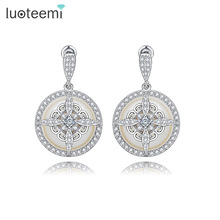 LUOTEEMI New Noble Special Design Imitation Pearl Drop Earrings Fashion Delicate Dangle Brincos Jewelry For Women Wedding Gift(China)