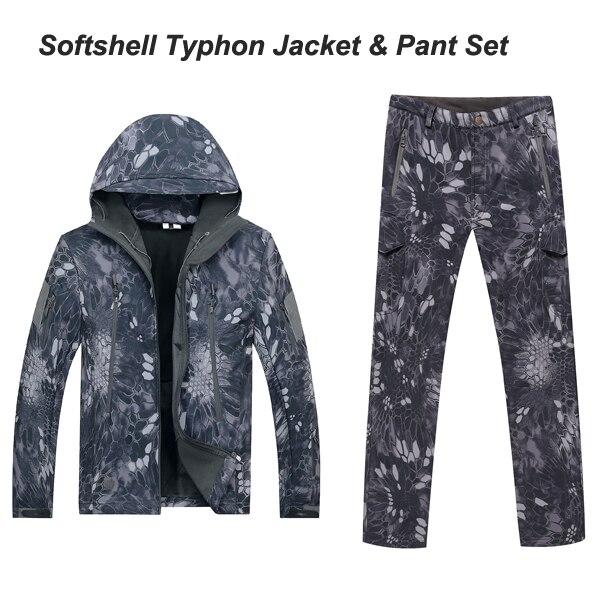 Typhon TAD Men sets Waterproof Windproof Polyester Coats Jacket set Hoody TAD softshell Jacket+pants