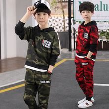 Boys Clothes Kid Autumn Winter Suit Camouflage Tracksuit Two Piece Set Back To School Outfit Teenager Boutique Kids Clothing