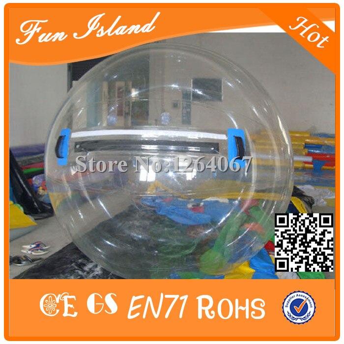 Livraison gratuite 2.5 mètre 1.0mm TPU personne à l'intérieur de bulle spectacle boule d'eau Transparent flottant lumière boule gonflable balles d'eau