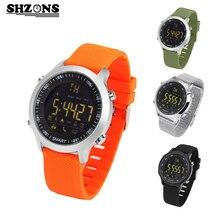 SHZONS EX18 Buceo 50 M Impermeable Reloj Podómetro Inteligente Reloj Teléfono Bluetooth Mensaje Push Deportes de Fitness Saludable SmartWatch