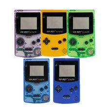 """Console de jogos clássico portátil gb, cor colorida menino 2.7 """"com retroiluminação 66 consoles embutidos jogos"""