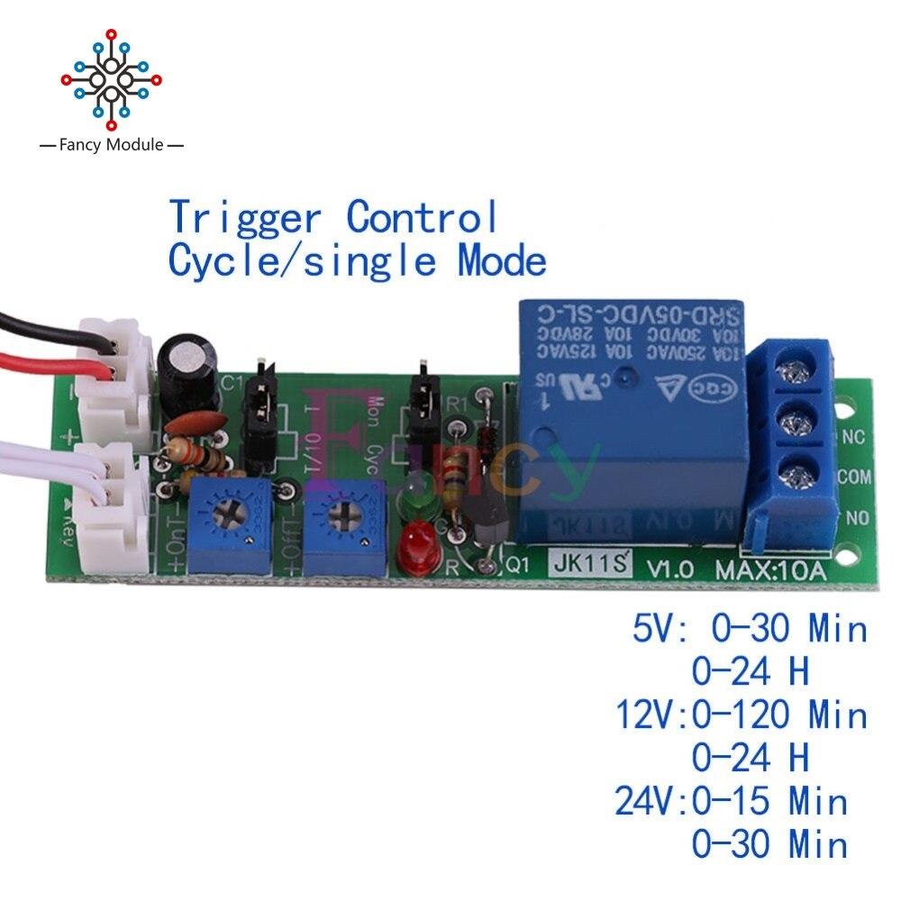 DC12V Einstellbares Zyklus-Schleifen-Verzögerungs-Timer-Zeitrelais-Schalter DJ