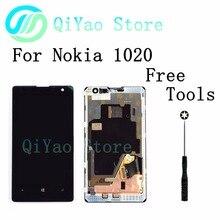 Para nokia lumia 1020 lcd display + touch screen asamblea del digitizador + frame