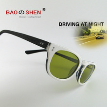 Driver night vision glasses polarized sunglasses white big box sunscreen visor personality outdoor female