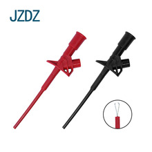 JZDZ J.30021 2 pieces of flexible test probe with professional quick insulation test hook and high tension clip j rameau 2 pieces