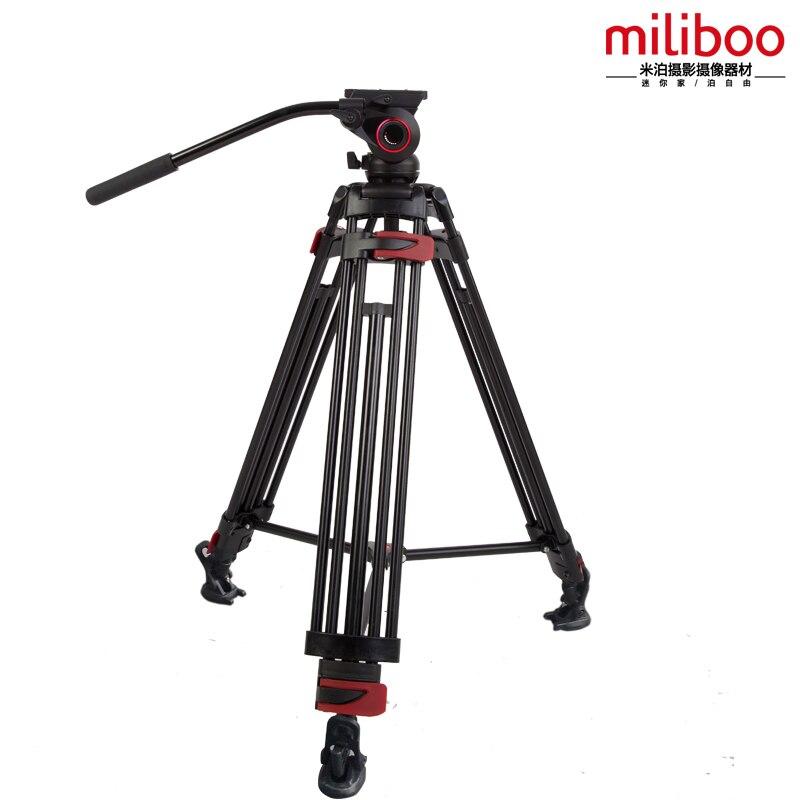 miliboo Aluminum Alloy MTT604A Portable Tripod For SLR Camera Tripod Fluid  Head Monopod  Load Bearing 10KG
