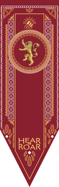 House Stark, Targaryen, Lannister & Night Watch Flag  2