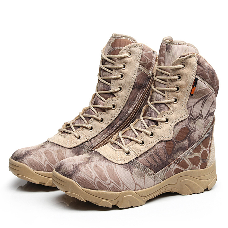 Camouflage Men Tactical Boots Military Desert Combat Boots Outdoor Waterproof Army Boots Desert Safty Work Shoes Combat Ankle combat boots desert tan lug sole military boots page 4
