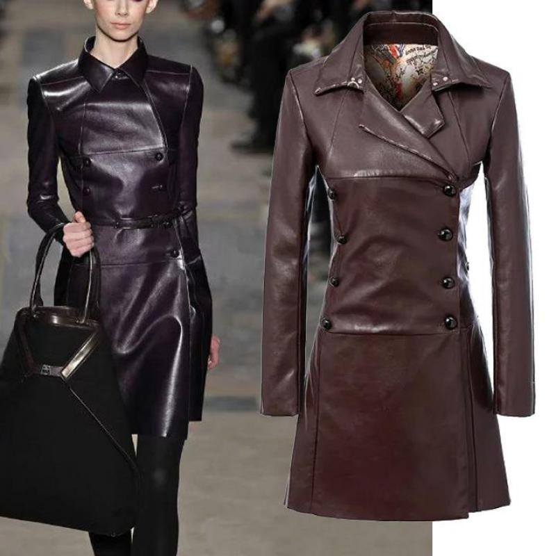 popular brown ladies leather jacketbuy cheap brown ladies