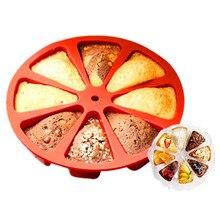 8 Hole Orange Shape Cake Mold Pizza Tray Silicone DIY Cake Tools Baking Mold Fondant Cake Decorating Tools Kitchen Accesorries цена и фото