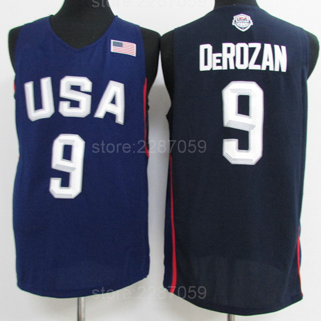 e7dbb2e55 ... wholesale ediwallen demar derozan jersey 9 men dream twelve team 2016 usa  derozan basketball jerseys for