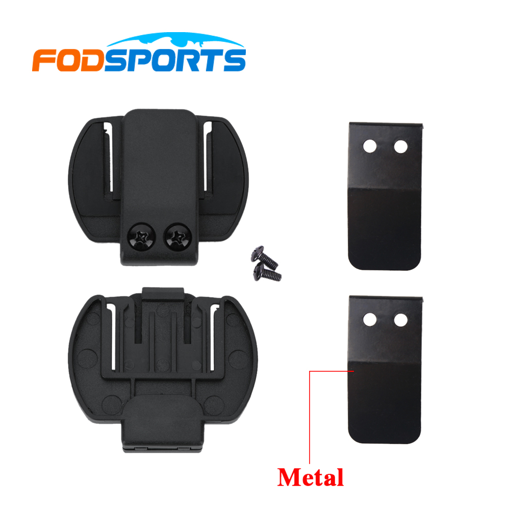 For Sale 2 Pcs Fodsports V6 1200 Helmet Headset Clip Motorcycle Spare Part Accessories Bluetooth Intercom Atau V4 Intercome Bracket