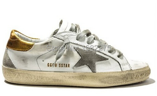 Old New Shoes With Men G23d121 Superstar Golden Sneakers Goose Leather Genuine Box Women Ggdb Gold fxrUwqf8