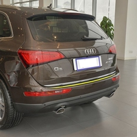Car Styling Exterior Stainless Steel Rear Trunk Steamer Lid Cover Trim 1Pcs For Audi Q5 2009