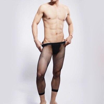 Обчагивающиеся прозрачные сексуальные мужские лосины