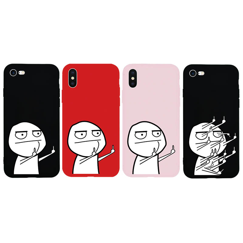 Funny Little Man TPU Silicone Soft Case for iPhone X Xs
