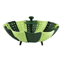 Kitchen Tools Silicone Plastic Multi – functional Retractable Folding Steamer Fruit Plate Steamer