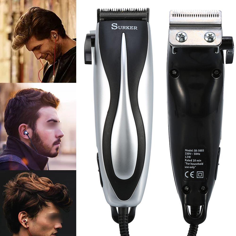 0f4ea3789 Nova Recarregável Barbeador Aparador de Barba Cabelo Elétrico máquina de Cortar  Cabelo À Prova D' Água Corpo de Cabelo corte de Cabelo Aparador De Barba ...