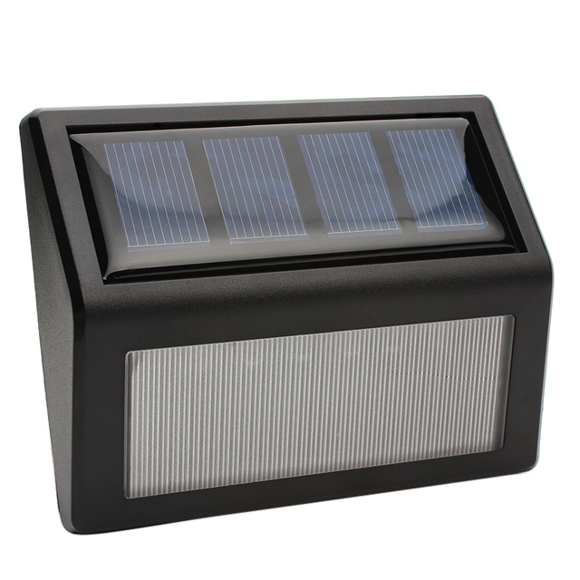 IP55 LED Solar Lights Wall Lamp Garden Light Outdoor Landscape Lawn Lamp 6 LEDs Fence Solar Wall Lamps #KF