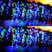 Год! Светодиодный Рождественский светильник 8x0,65 м, наружные украшения, светодиодный светильник-гирлянда, светодиодный Рождественский светильник