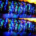 Ano novo! 8x0.65 m Cortina de LED Luzes Cristmas Decorações Ao Ar Livre do DIODO EMISSOR de Luz Da Corda Natal Guirlanda De Natal Levou Luces Navidad