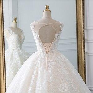 Image 5 - Fansmile Vestidos de Novia Vintage, novedad del 2020 en Vestidos de gala de tul, vestido de boda de princesa de encaje de calidad, vestido de Novia de boda FSM 522F