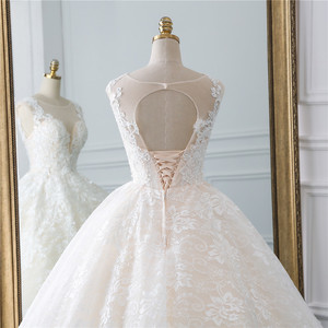 Image 5 - Fansmile yeni Vestidos de Novia Vintage balo tül gelinlik 2020 prenses kalite dantel düğün gelinlik FSM 522F