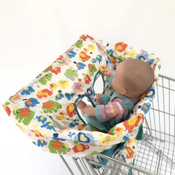 5 цветов Материал персиковый; кожа, вельвет Стандартный детский размер, корзина для покупок, стульчик для кормления и удобные корзину Обложка для младенцев и детей ясельного возраста - Цвет: Colorful Elephant