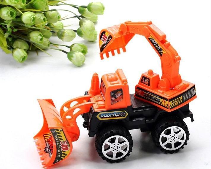 1pc / pack barn fordon grävmaskin leksaker / barn leksaker Factory tröghets trailer dubbel trumpet Truck traktor leksak, snabb frakt