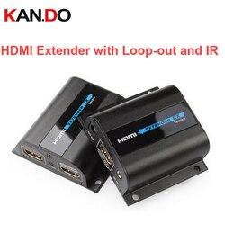 LKV372Pro HDMI موسع 1080P HDMI يصل إلى 60 متر/196ft أكثر من واحد CAT6 شبكة كابل HDMI موسع ث/حلقة التدريجي و IR محول لاسلكي